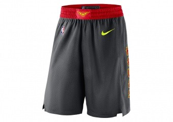 NIKE NBA ATLANTA HAWKS SWINGMAN ROAD SHORTS BLACK