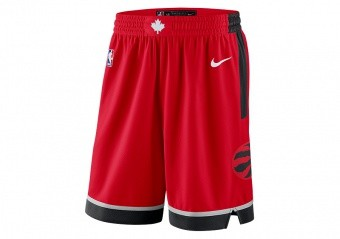 NIKE NBA TORONTO RAPTORS SWINGMAN ROAD SHORTS UNIVERSITY RED
