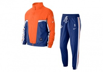 NIKE NBA NEW YORK KNICKS COURTSIDE TRACKSUIT BRILLIANT ORNGE