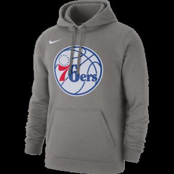 NIKE NBA PHILADELPHIA 76ERS PO CLUB FLEECE LOGO