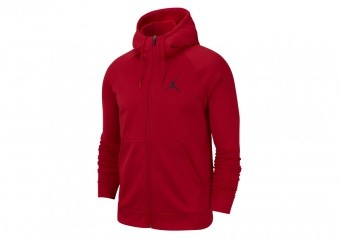 NIKE AIR JORDAN 23 ALPHA THERMA FLEECE HOODIE GYM RED