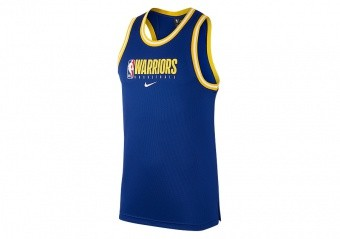 NIKE NBA GOLDEN STATE WARRIORS Dri-FIT DNA TANK RUSH BLUE