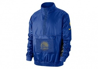 NIKE NBA GOLDEN STATE WARRIORS LIGHTWEIGHT COURTSIDE JACKET RUSH BLUE