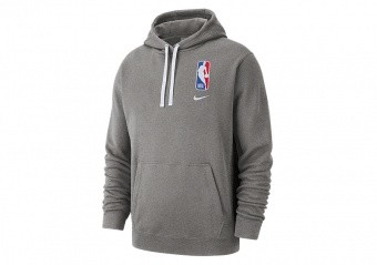 NIKE NBA N31 COURTSIDE PULLOVER HOODIE DARK GREY HEATHER
