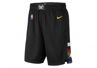 NIKE NBA DENVER NUGGETS CITY EDITION SWINGMAN SHORTS BLACK