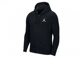 NIKE AIR JORDAN NFS FLIGHT FLEECE FULL-ZIP HOODIE BLACK