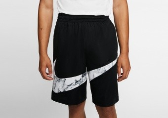 NIKE DRI-FIT HBR MARBLE SHORTS BLACK