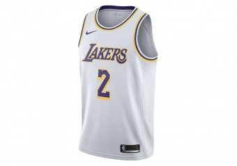 NIKE NBA LOS ANGELES LAKERS LONZO BALL SWINGMAN JERSEY WHITE