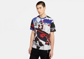 NIKE AIR JORDAN BRAND PHOTO TEE WHITE