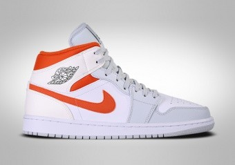 NIKE AIR JORDAN 1 RETRO MID SE STARFISH ORANGE PLATINIUM