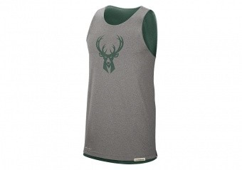 NIKE NBA MILWAUKEE BUCKS STANDARD ISSUE REVERSIBLE TANK FIR