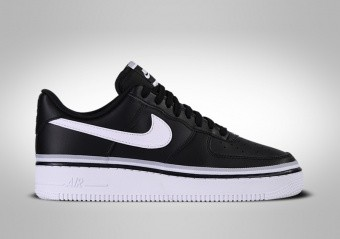 NIKE AIR FORCE 1 LOW '07 LV8 BLACK WHITE WOLF GREY