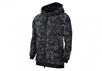 NIKE LEBRON PRINTED FULL-ZIP HOODIE SMOKE GREY