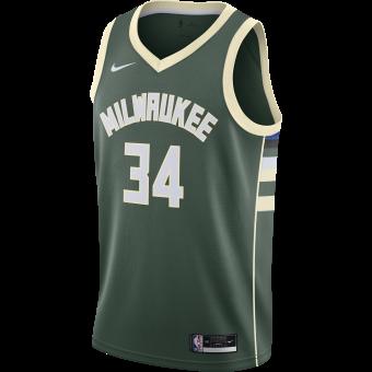 NIKE NBA MILWAUKEE BUCKS ICON EDITION SWINGMAN JERSEY