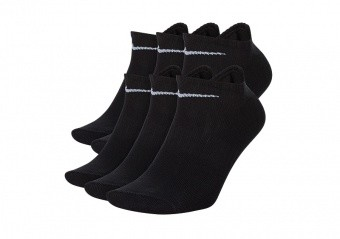 NIKE EVERYDAY LIGHTWEIGHT NO-SHOW SOCKS (6 PAIRS) BLACK