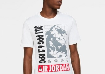 NIKE AIR JORDAN WINTER UTILITY MOUNTAINSIDE TEE WHITE