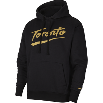 NIKE NBA TORONTO RAPTORS CITY EDITION LOGO PULLOVER FLEECE HOODIE