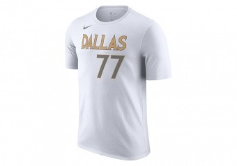 NIKE NBA DALLAS MAVERICKS LUKA DONČIĆ CITY EDITION TEE WHITE