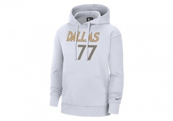 NIKE NBA DALLAS MAVERICKS LUKA DONČIĆ CITY EDITION PULLOVER HOODIE WHITE