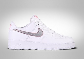 NIKE AIR FORCE 1 LOW '07 3M SWOOSH WHITE