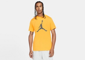 NIKE AIR JORDAN JUMPMAN TEE UNIVERSITY GOLD