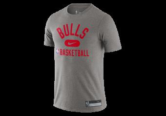 NIKE NBA CHICAGO BULLS DRI-FIT THE TEAM'S PRACTICE TEE