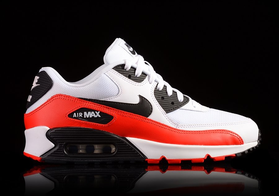 NIKE AIR MAX 90 ESSENTIAL WHITE LIGHT CRIMSON