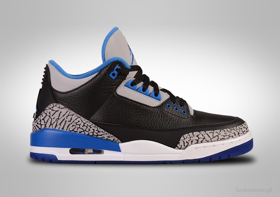 3b1f018e74f5 NIKE AIR JORDAN 3 RETRO BLACK SPORT BLUE price €185.00