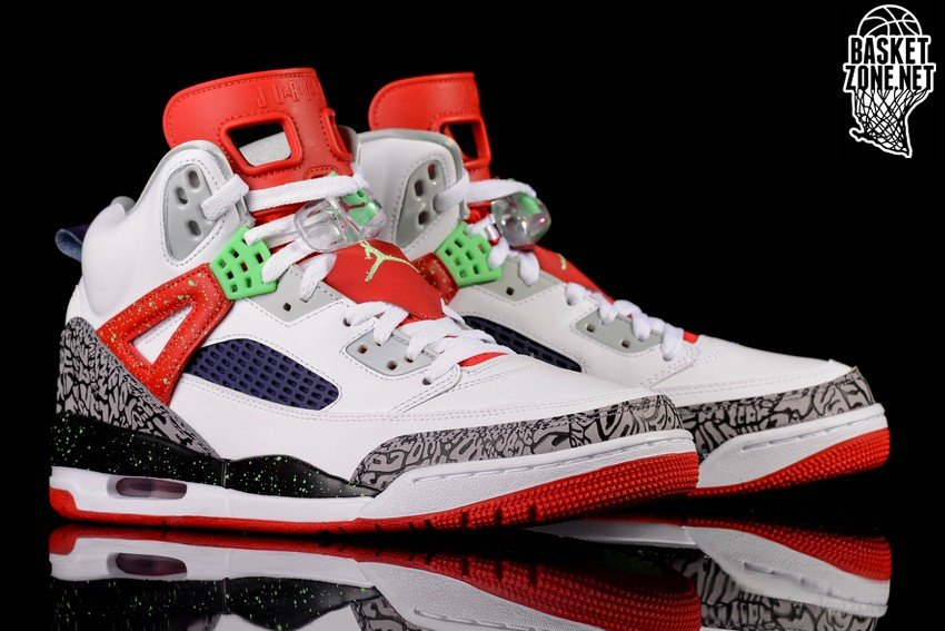 601e5e52fe1c NIKE AIR JORDAN SPIZIKE WHITE RED GREY CEMENT BG (SMALLER SIZEs ...
